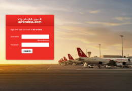 Login Page of AirArabia